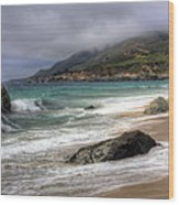 Shores Of Big Sur Wood Print by Shawn Everhart