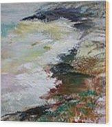 Shores Of Half Moon Bay Wood Print