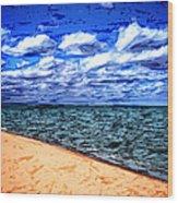 Shores Of Lake Superior Wood Print