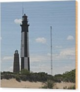 Short And Tall Cape Henry Lights Wood Print