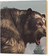 Short Faced Bear Wood Print by Daniel Eskridge