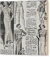 Shorts And Slacks 1934 77 Cents Wood Print