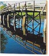 North Bridge On The Concord Wood Print