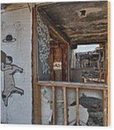 Should We Remodel Graffiti  Wood Print