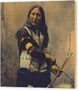 Shout At Oglala Sioux  Wood Print