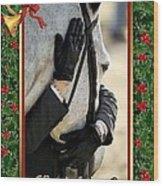 Show Horse English Blank Christmas Card Wood Print