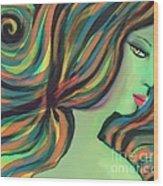 Show Me The Colors Wood Print by Hilda Lechuga