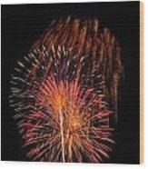 Shower Of Fireworks Wood Print