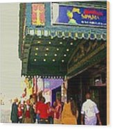 Showtime Toronto's Broadway Monty Python Spamalot Theatre District The Plays The Thing City Scenes Wood Print