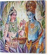 Shree Sita Ram Wood Print