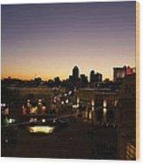 Shreveport Skyline Wood Print