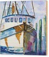 Shrimp Boat Isra Wood Print
