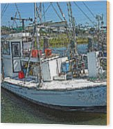 Shrimp Boat - Southern Catch Wood Print