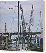 Shrimp Boats At Lazaretto Creek Wood Print