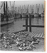 Shrimp Boats In Key West Wood Print