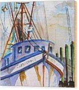 Shrimp Fishing Boat Wood Print
