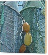 Shrimp Net Close Up Wood Print