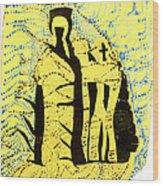 Shroud Of Jesus Wood Print