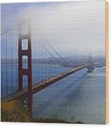 Shrouded Golden Gate Bridge  Wood Print