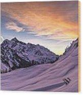 Shuksan Morning Skies Wood Print