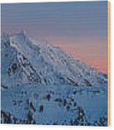 Shuksan Sunset Panorama Wood Print