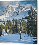 Shuksan Winter Paradise Wood Print by Inge Johnsson