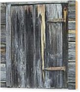 Shut Wood Print