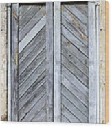 Weathered Wooden Shutters Wood Print