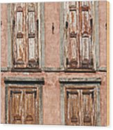 Four Wooden Shutters Wood Print