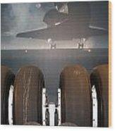 Shuttle Tires Wood Print