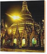 Shwedagon Paya - Yangoon Wood Print