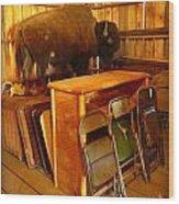 Shy Buffalo Wood Print
