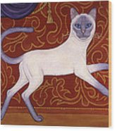Siamese Cat Runner Wood Print