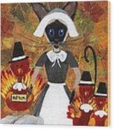Siamese Queen Of Thanksgiving Wood Print