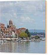 Sibenik Town On Adriatic Sea  Wood Print