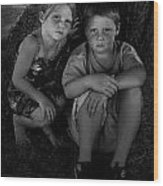Siblings Wood Print by Julie Dant