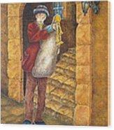 Sicilian Ciaramella Wood Print