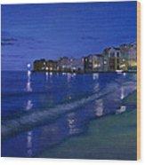 Sicilian Sunset Wood Print