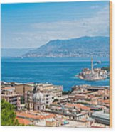Sicily And Italy Wood Print