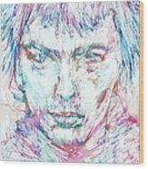 Sid Vicious - Colored Pens Portrait Wood Print