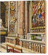 Side Altar In St Peters Basicilca Wood Print