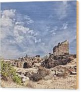 Side Ancient Archaeological Remains Wood Print