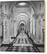 Side Hall Off The Main Entrance Belfast City Hall Built In 1906 County Antrim Northern Ireland Wood Print