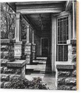 Side Porch Wood Print