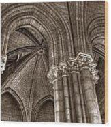 Side Vault In Notre Dame Wood Print