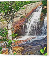 Side View Of Southeast Brook Falls In Gros Morne Np-nl Wood Print