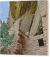 Side Window In Spruce Tree House On Chapin Mesa In Mesa Verde National Park-colorado  Wood Print