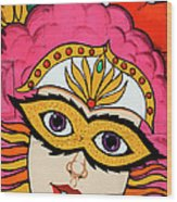 Carnival Mask Palm Springs Wood Print