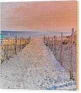 Sideside Heights Sunset Wood Print