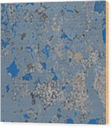 Sidewalk Abstract-17 Wood Print
